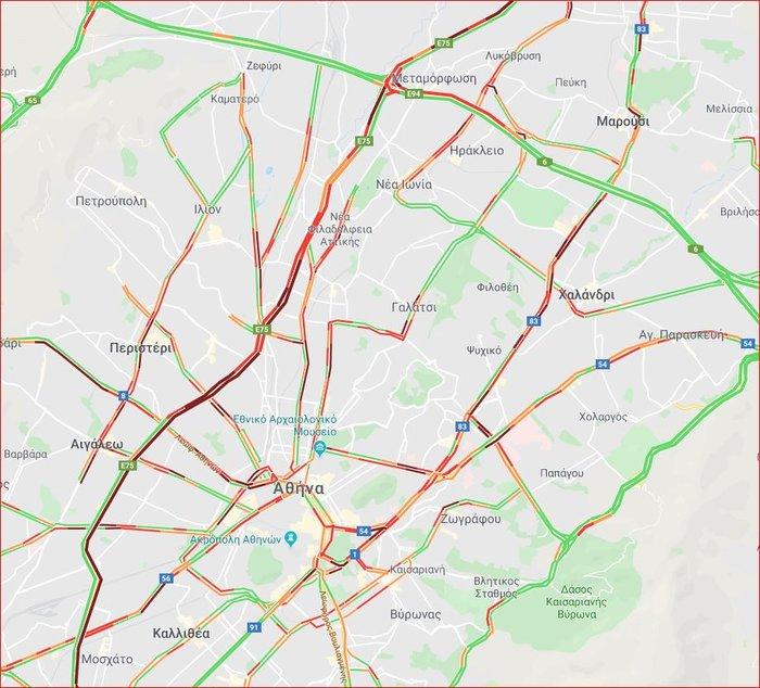Κυκλοφοριακό χάος στον Κηφισό μετά από σύγκρουση φορτηγών - εικόνα 7