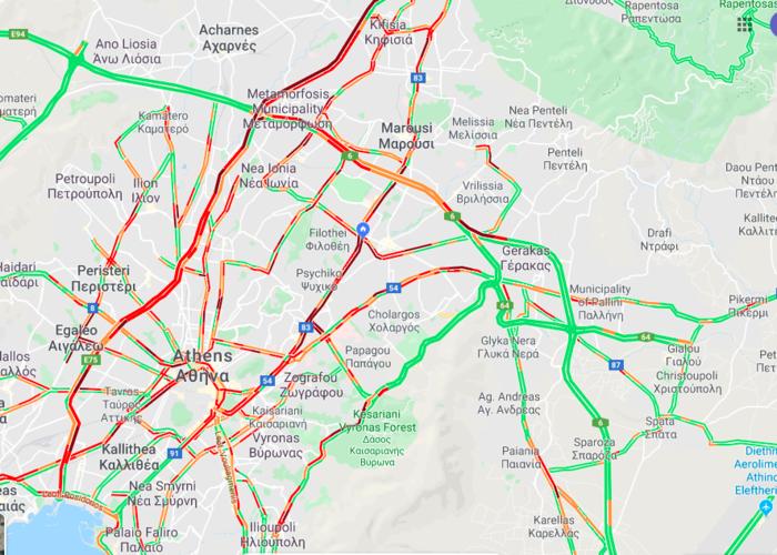 Κίνηση: «Κόλαση» στους δρόμους της Αθήνας - Ουρές χιλιομέτρων