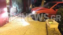 Δάφνη: Μπούκαραν σε κοσμηματοπωλείο με αυτοκίνητο [εικόνες]