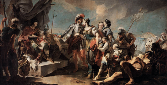 Η Ζηνοβία και ο αυτοκράτορας Αυρηλιανός σε έργο του Giovanni Battista Tiepolo
