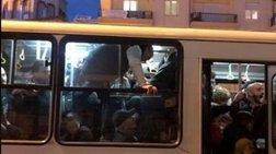 Εικόνα – ντροπής: Επιβάτες «ίπτανται» σε λεωφορείο ΟΑΣΘ στη Θεσσαλονίκη