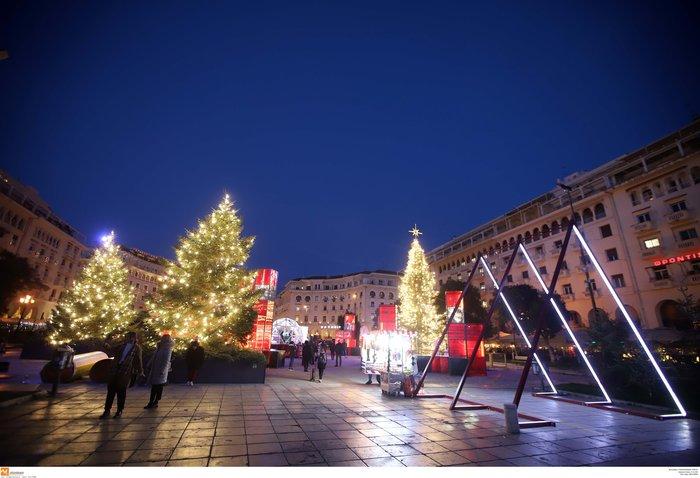 Κέντρο Θεσσαλονίκης: Εντυπωσιακός ο γιορτινός στολισμός
