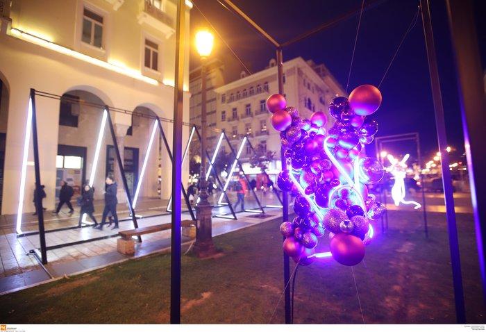 Κέντρο Θεσσαλονίκης: Εντυπωσιακός ο γιορτινός στολισμός - εικόνα 3