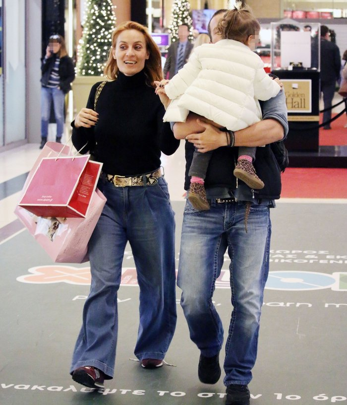 Eλεονώρα Μελέτη – Θοδ. Μαροσούλης: Για ψώνια με την κόρη τους