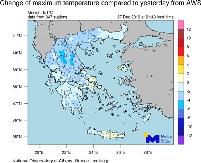 Έντονες χιονοπτώσεις σε χαμηλά υψόμετρα και στην Αττική την Κυριακή