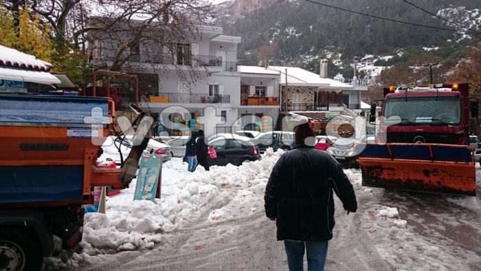 «Σαρώνει» η Ζηνοβία: Χιόνια, διακοπές ρεύματος, κλειστοί δρόμοι [εικόνες] - εικόνα 6
