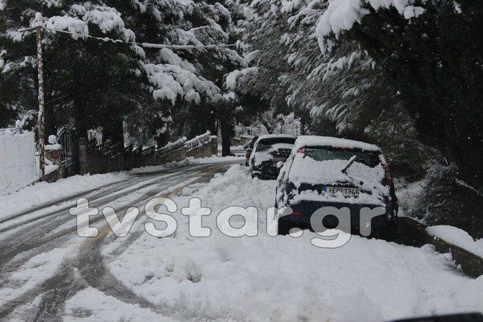 «Σαρώνει» η Ζηνοβία: Χιόνια, διακοπές ρεύματος, κλειστοί δρόμοι [εικόνες] - εικόνα 3