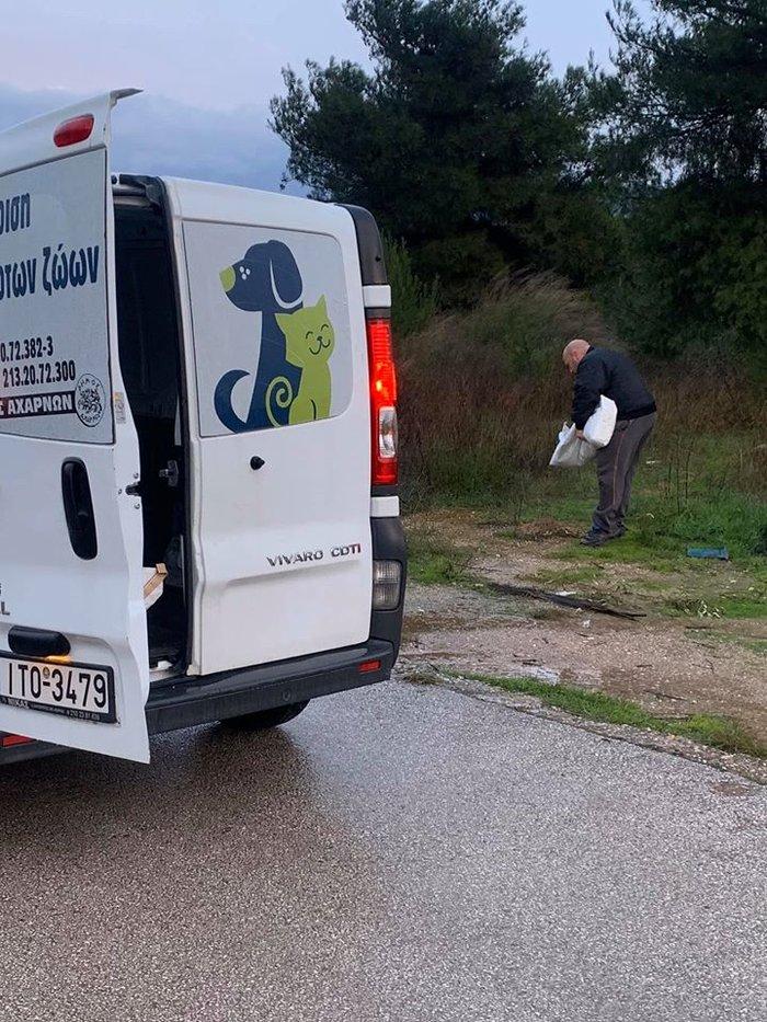 Μπράβο: Ο Δήμαρχος Αχαρνών έστειλε υπαλλήλους να ταΐσουν τα αδέσποτα - εικόνα 3