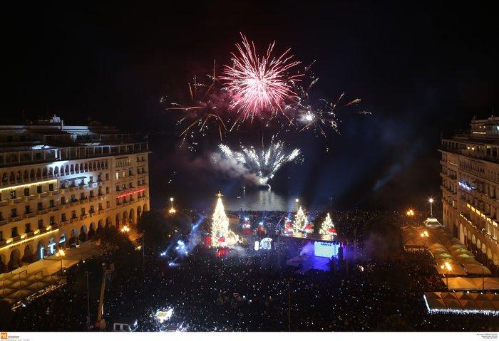 Πρωτοχρονιά 2020: Υπερθέαμα με πυροτεχνήματα Φουρέιρα & βιολιά στη Θεσ/νίκη