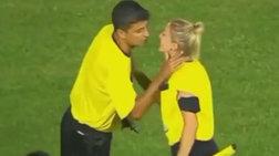 Viral το «καυτό» φιλί  διαιτητών λίγο πριν τον αγώνα - βίντεο