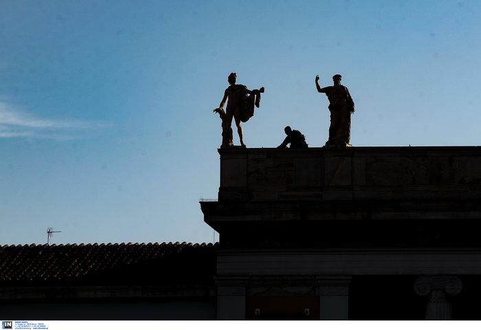 Ακροβολισμένοι αστυνομικοί γύρω από το Αρχαιολογικό Μουσείο λόγω Νετανιάχου - εικόνα 4