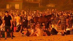 Οπως στο Μάτι: Αυστραλοί στην παραλία για να σωθούν από την φωτιά [εικόνα]