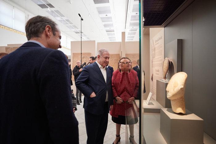 Μητσοτάκης-Νετανιάχου στο Αρχαιολογικό Μουσείο