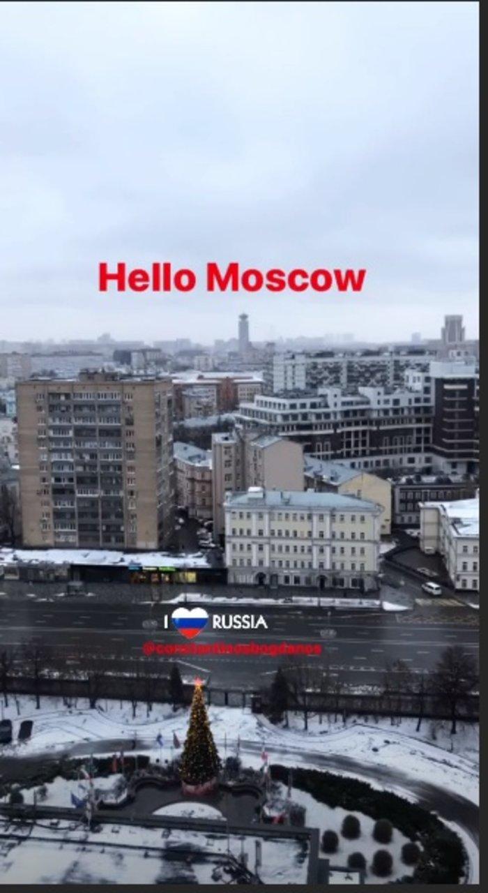 Μπογδάνος: Διακοπές στη χιονισμένη Μόσχα με τη γυναίκα του - εικόνα 2