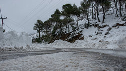 Eπτά ημέρες συνεχόμενων βροχοπτώσεων και χιονοπτώσεων στην Κρήτη