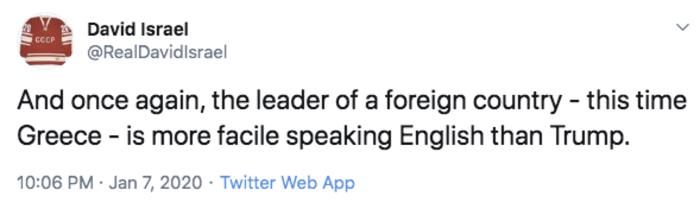 Αμερικανοί δημοσιογράφοι:Ο Μητσοτάκης μιλάει καλύτερα αγγλικά από τον Τραμπ - εικόνα 2