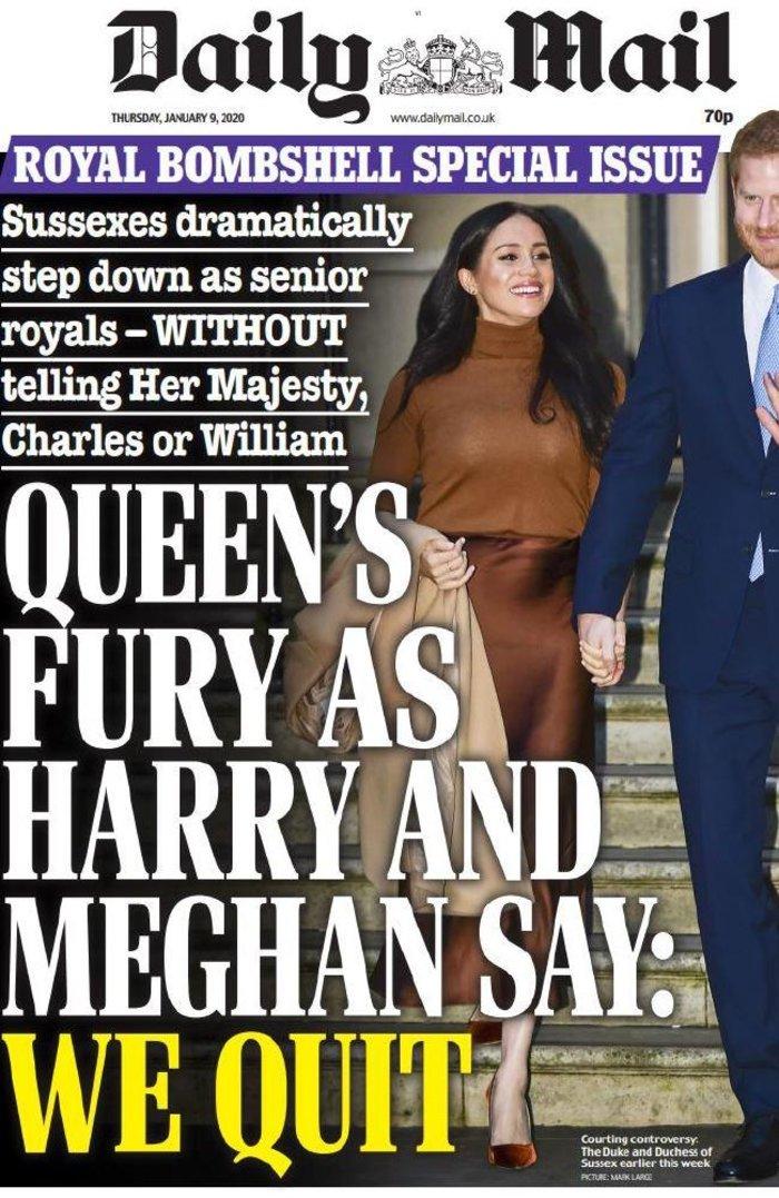 Ξεκαρδιστικά πρωτοσέλιδα: Η Μέγκαν με ρόλεϊ & ο Χάρι με μπυροκοιλιά - εικόνα 3