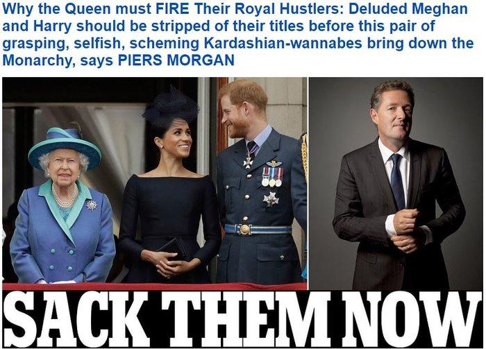 Σκληρό άρθρο προς την βασίλισσα Ελισάβετ: Απόλυσέ τους τώρα