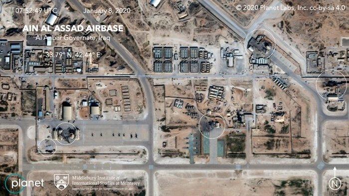 Εικόνες πριν & μετά την επίθεση του Ιράν στη στρατιωτική βάση των ΗΠΑ
