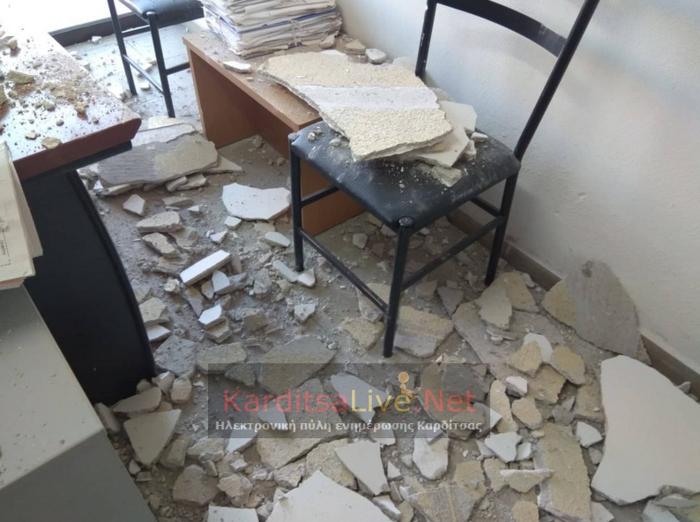 ΔΟΥ Καρδίτσας: Έπεσε το ταβάνι και τραυμάτισε υπάλληλο - εικόνα 2