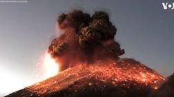 Η θεαματική έκρηξη ηφαιστείου στο Μεξικό [βίντεο]