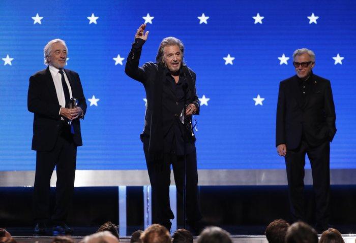 Τρεις θρύλοι στη σκηνή: Ρόμπερτ ντε Νίρο, Αλ Πατσίνο και Χάρβεϊ Καϊτέλ