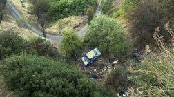 Οχημα κατέληξε σε γκρεμό στο δρόμο Αρεόπολη-Καλαμάτα [εικόνα]