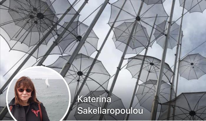 Η φωτογραφία του προφίλ της με τις περίφημες ομπρέλλες του Γιώργου Ζογγολόπουλου