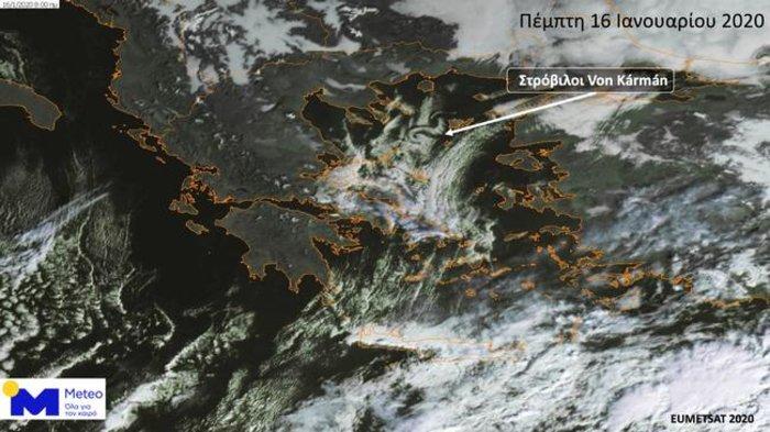 Εντυπωσιακοί στρόβιλοι Von Kármán στο Βόρειο Αιγαίο-Πότε παρατηρούνται