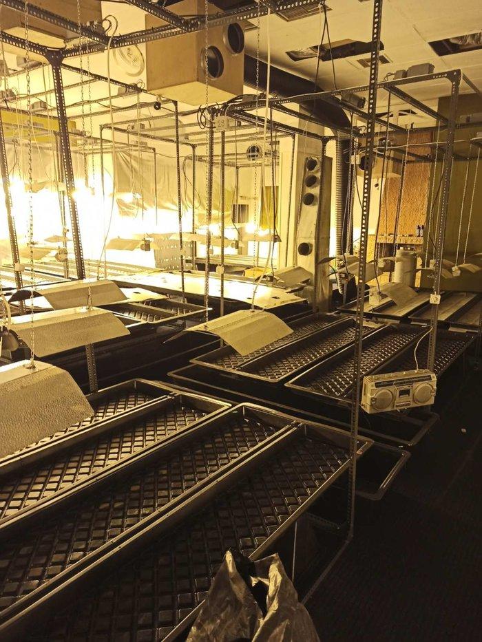 Σπείρα με πλήρως εξοπλιμένα εργαστήρια για υδροπονική κάνναβη