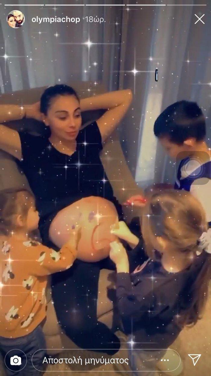 Ολυμπία Χοψονίδου: Γέννησε το έκτο της παιδί - Η φωτογραφία στο μαιευτήριο