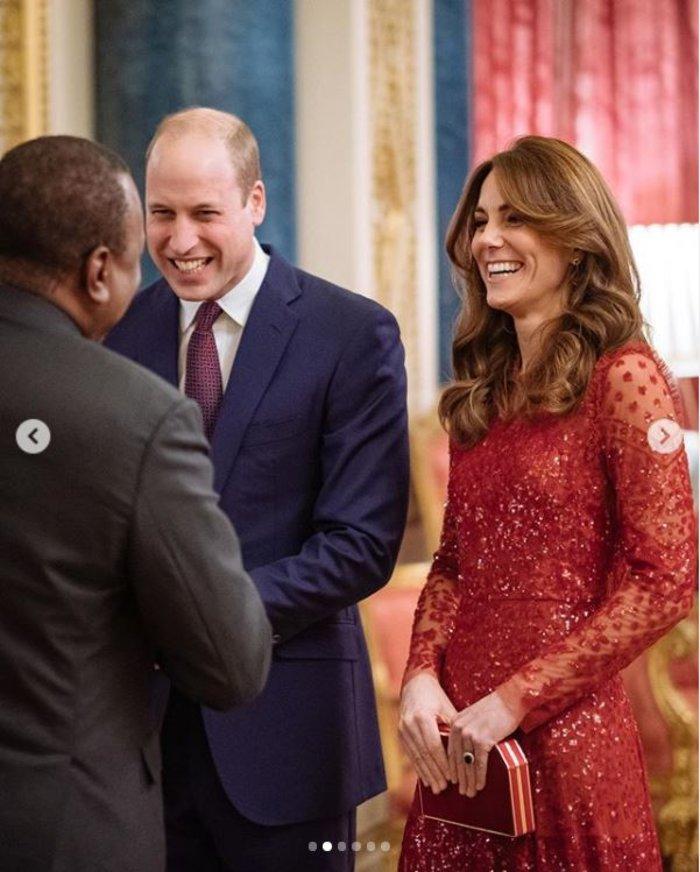 Ο Γουίλιαμ & η υπέρλαμπρη Κέιτ στα κόκκινα έκαναν take over στο παλάτι