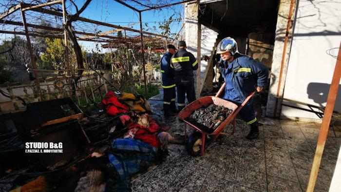Τραγωδία στην Αργολίδα: Νεκρά δύο αδέλφια σε πυρκαγιά [εικόνες]