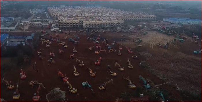 Κοροναϊός: Χτίζουν νοσοκομείο στην Κίνα μέσα σε 6 ημέρες - Φωτο