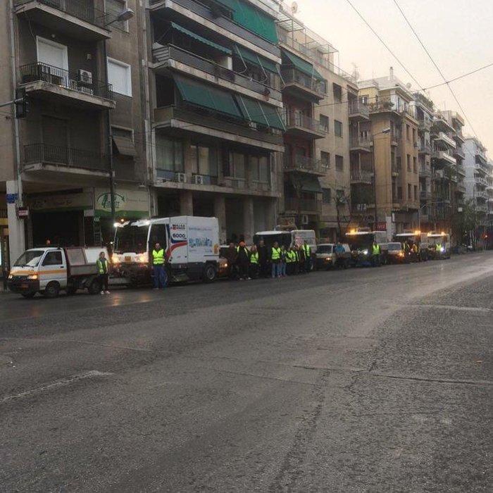 Μεγάλη επιχείρηση καθαριότητας του Δήμου Αθηναίων στην Κυψέλη - εικόνα 2
