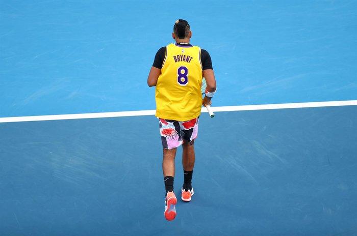 Συγκίνηση: Ο Νίκ Κύργιος με φανέλα του Κόμπι Μπράιντ στο Australian Open - εικόνα 4