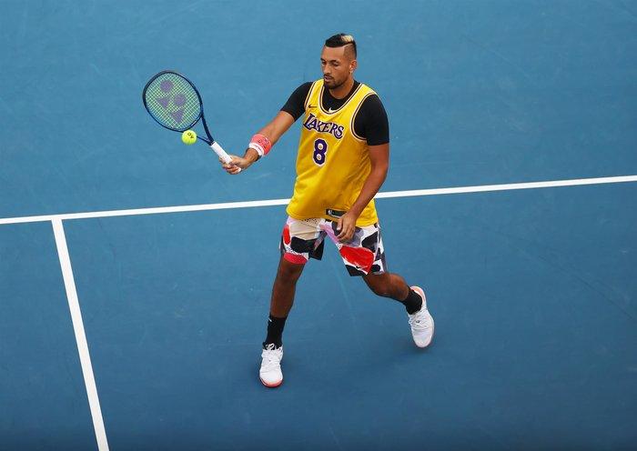 Συγκίνηση: Ο Νίκ Κύργιος με φανέλα του Κόμπι Μπράιντ στο Australian Open - εικόνα 5