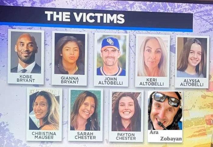 Μπράιαντ: Τα 9 θύματα της συντριβής του ελικοπτέρου - 3 παιδιά