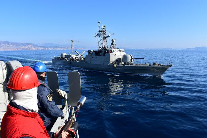 O χάρτης διεκδικήσεων & πολεμικών πλοίων στην  Ανατ. Μεσόγειο