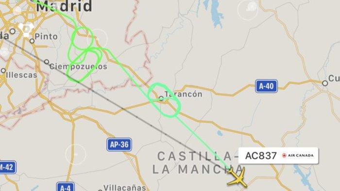 Θρίλερ στον αέρα με Μπόινγκ 767 πάνω από τη Μαδρίτη [video]