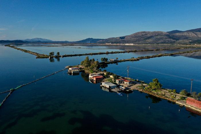 Λιμνοθάλασσα του Μεσολογγίου: Μαγευτικές εικόνες από drone