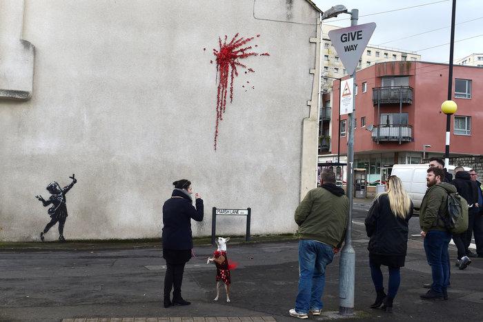 Το έργο - ευχή του Banksy για τον Άγιο Βαλεντίνο
