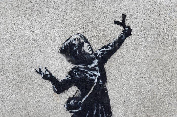 Το έργο - ευχή του Banksy για τον Άγιο Βαλεντίνο - εικόνα 2