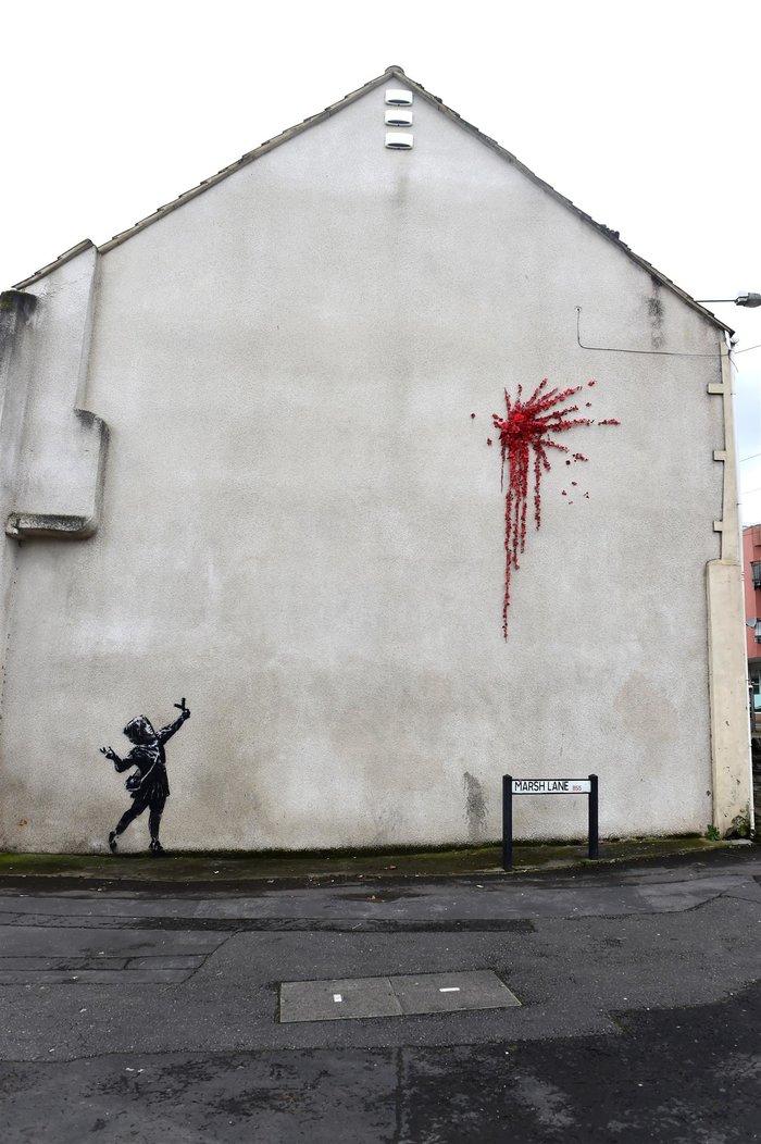 Το έργο - ευχή του Banksy για τον Άγιο Βαλεντίνο - εικόνα 3