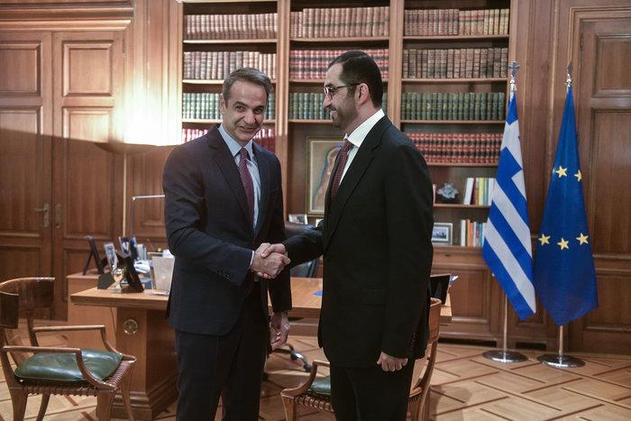 Συνάντηση Μητσοτάκη με τον υπουργό Επικρατείας των Η.Α.Ε.